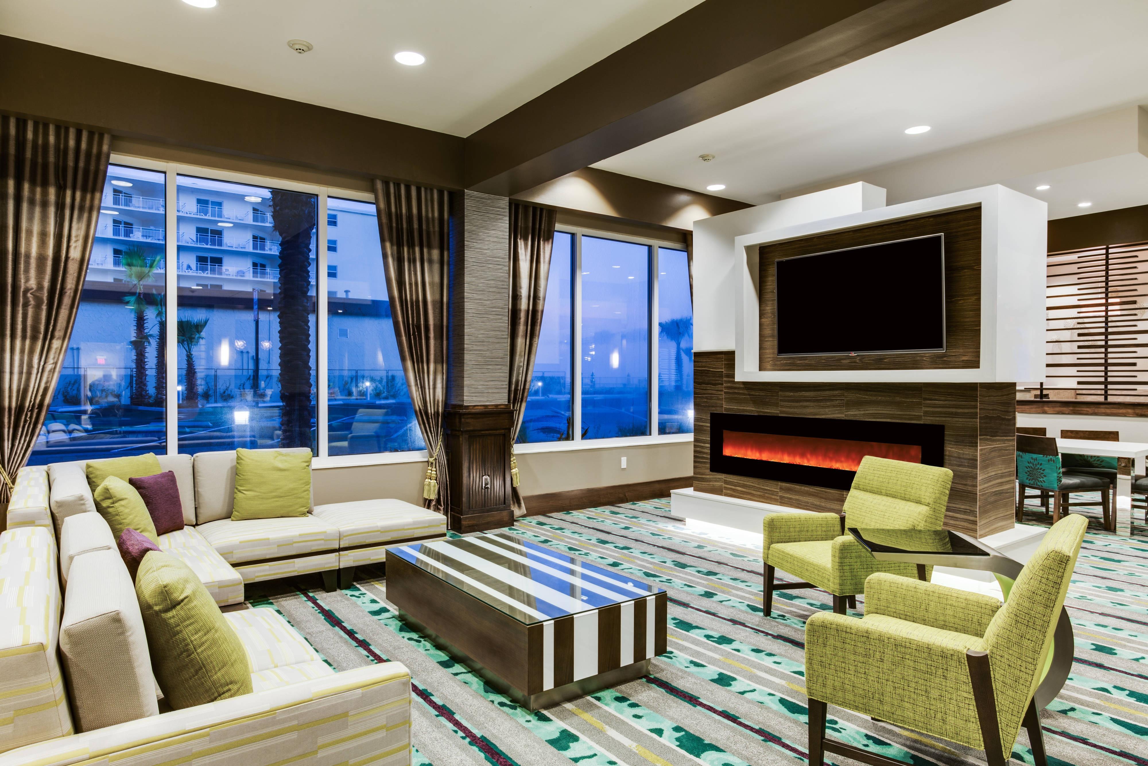 Contemporary designed hotel lobby