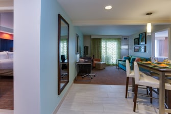 Two-Bedroom, two bath balcony suite with Partial oceanview