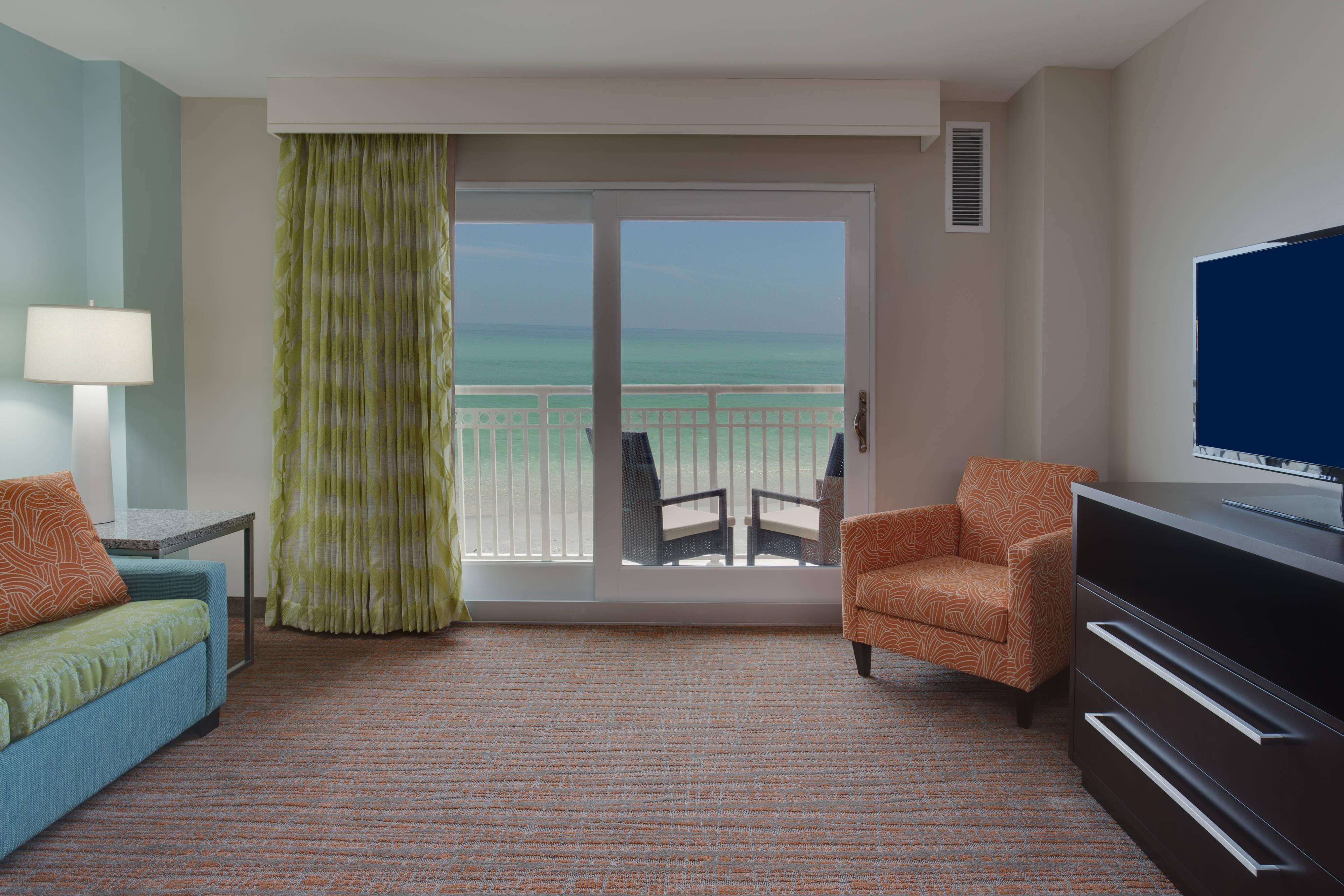 Oceanfront suite living area