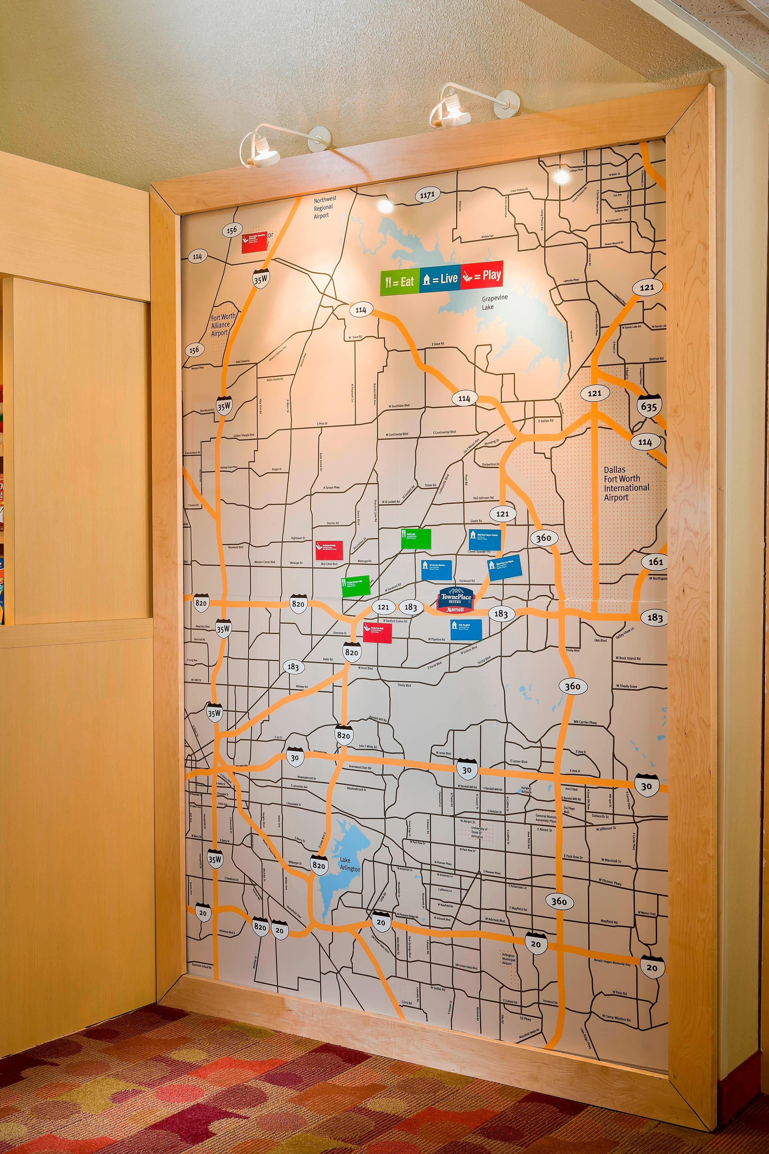 TowneMap Bedford Texas Hotel