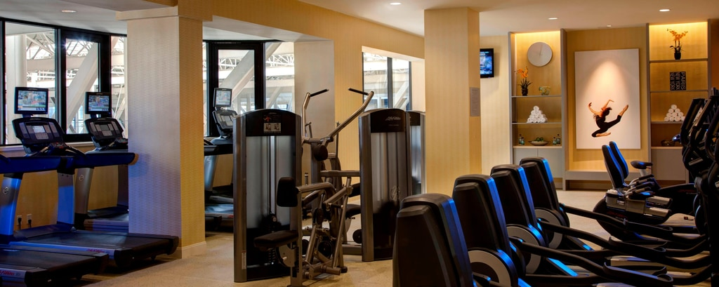 Downtown dallas hotel gym fitness center dallas marriott city center