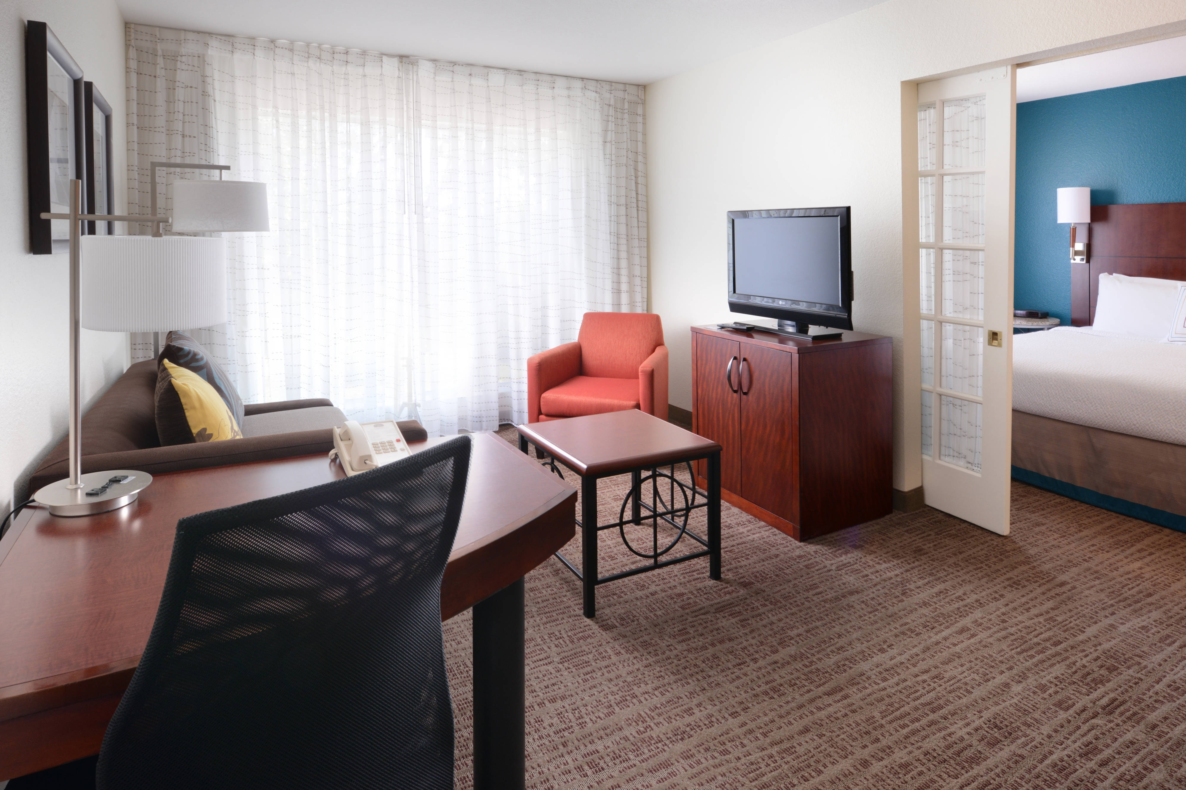 Dallas Market Center Two-Bedroom Suite Living Area
