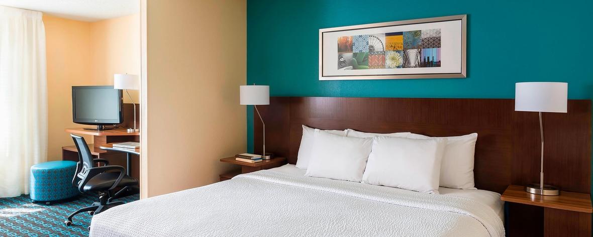 テキサス州ノースダラスのホテルの客室