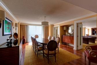 Addison Hotel Presidential Suite Dining