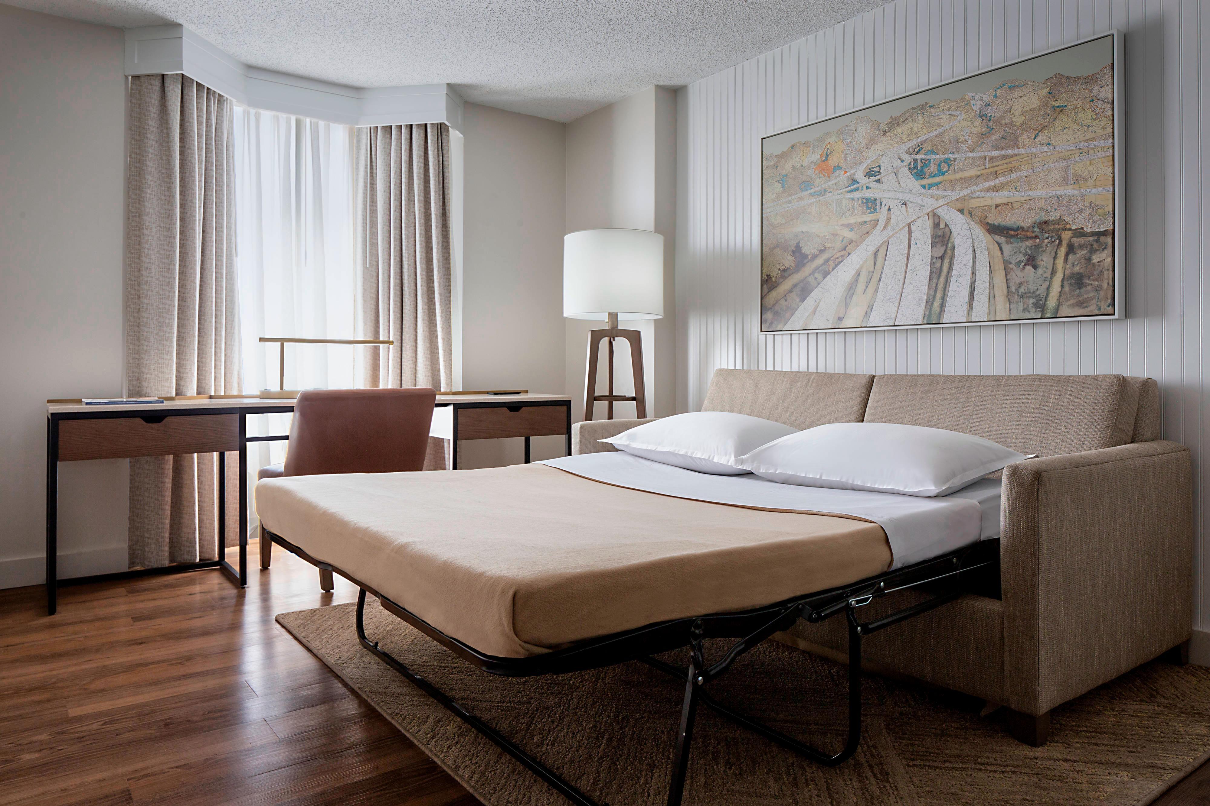 Sofá-cama da suíte