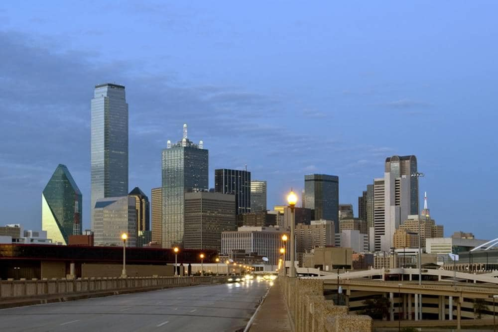 Downtown Dallas Texas Skyline