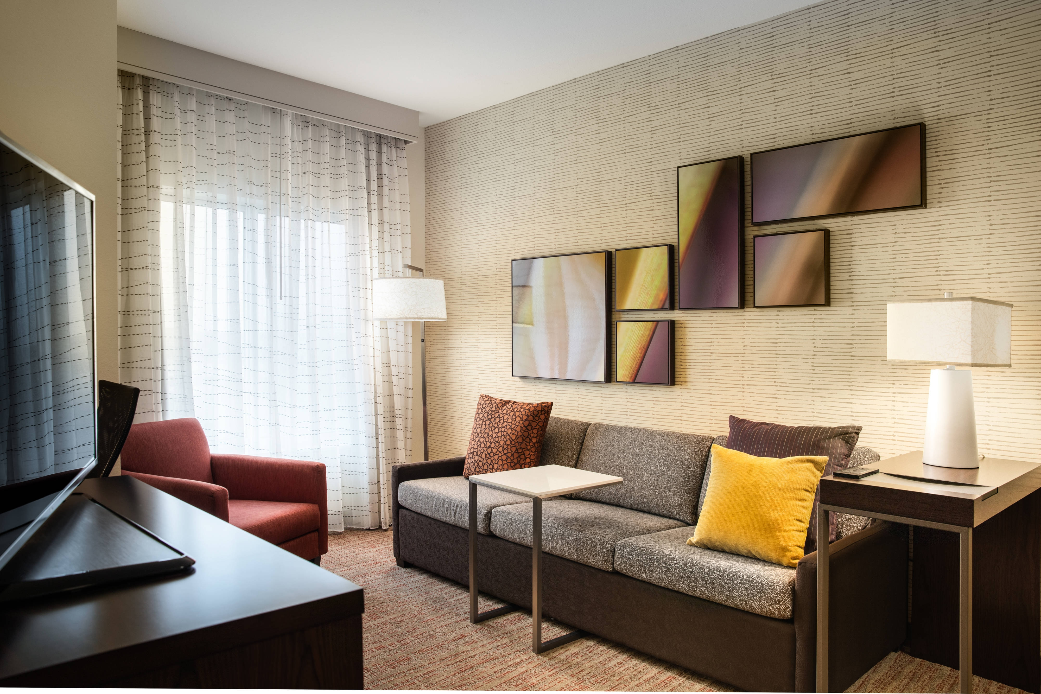 One Bedroom Suite - Living Room with Pullout Sofa