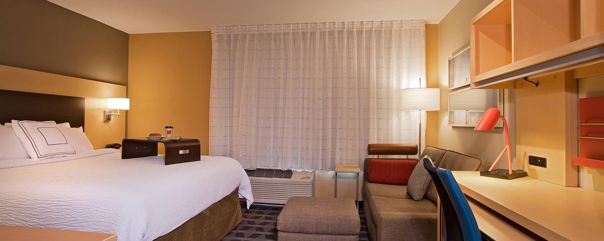 Suite King tipo estudio - Área de dormir