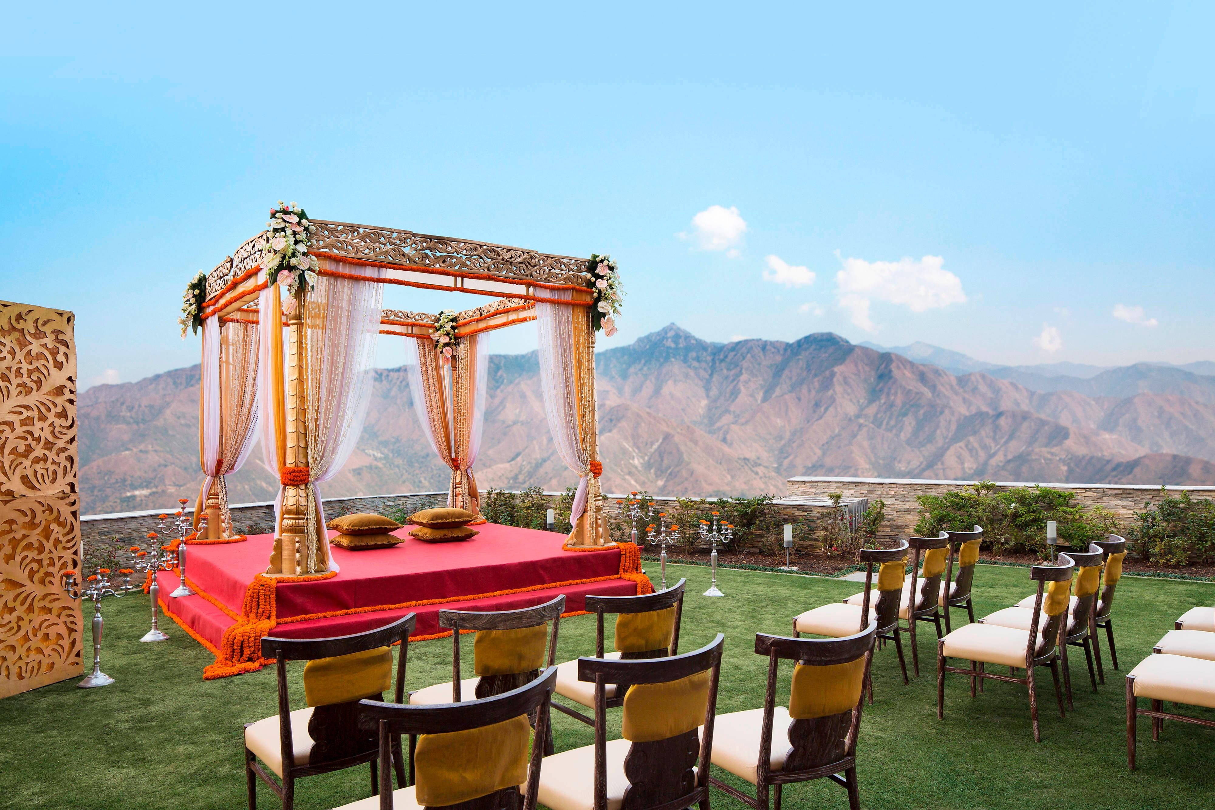Himalayas Outdoor Wedding Ceremony Setup
