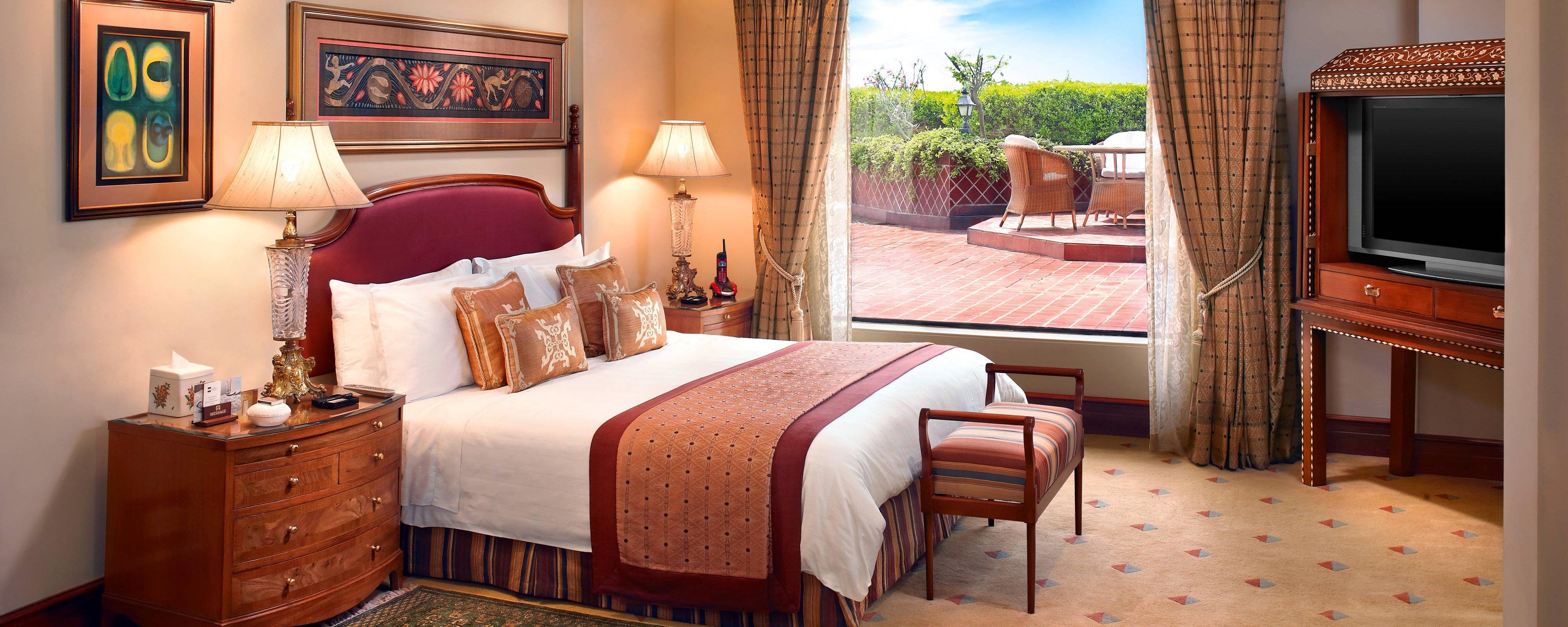 Camera da letto della Suite Ashoka