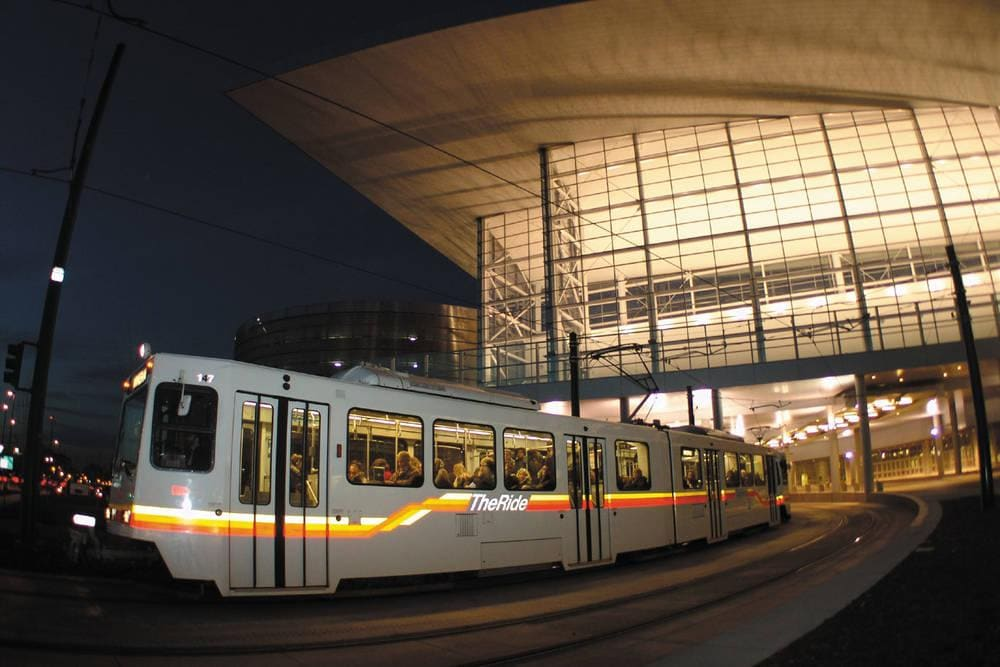 Light Rail at the Convention Center