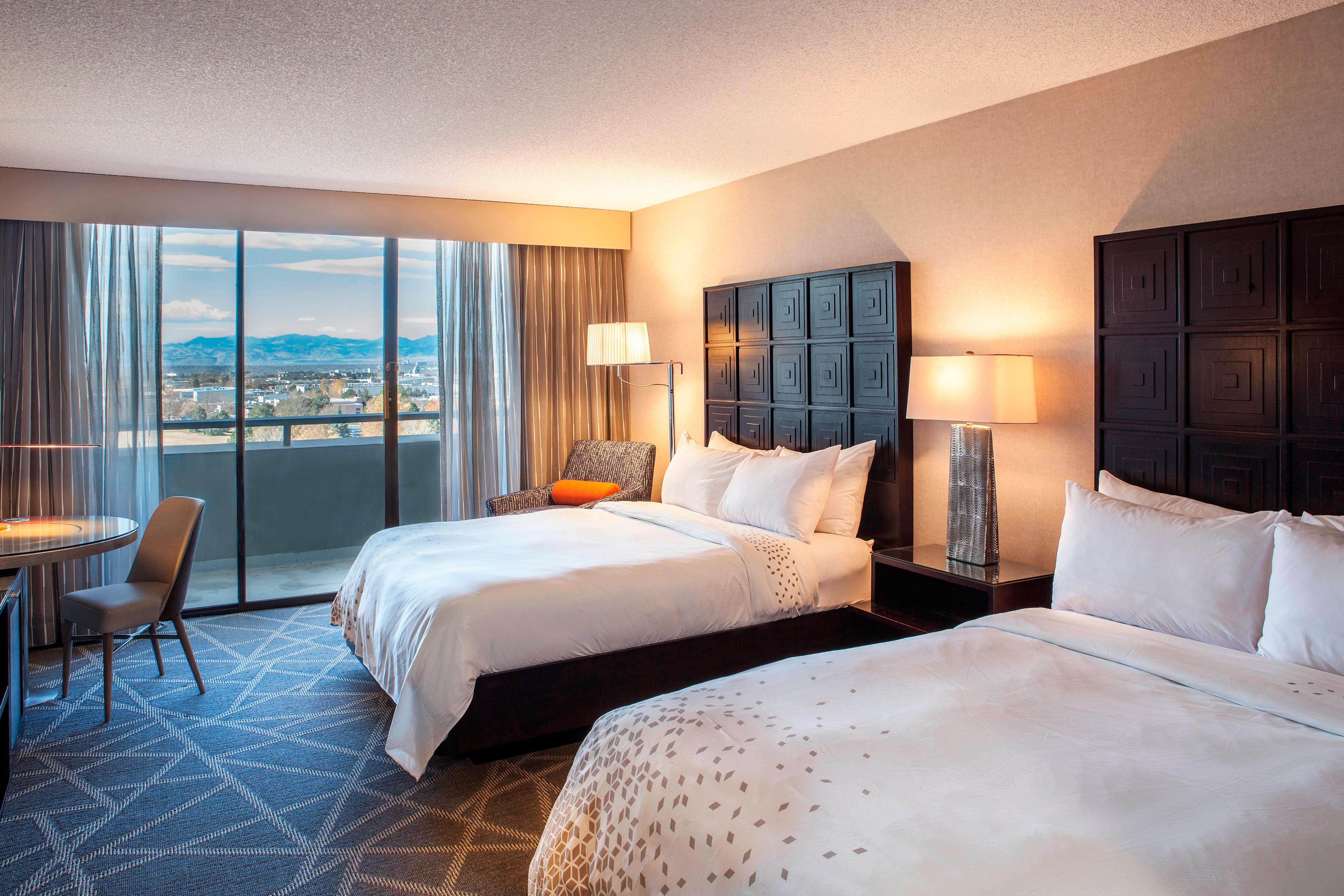 Chambre à deux lits queen size, en étage élevé