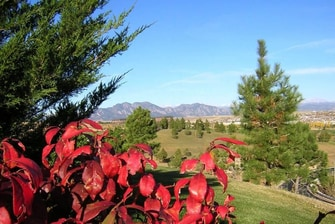 View of Flatiron Mountains & Foliage