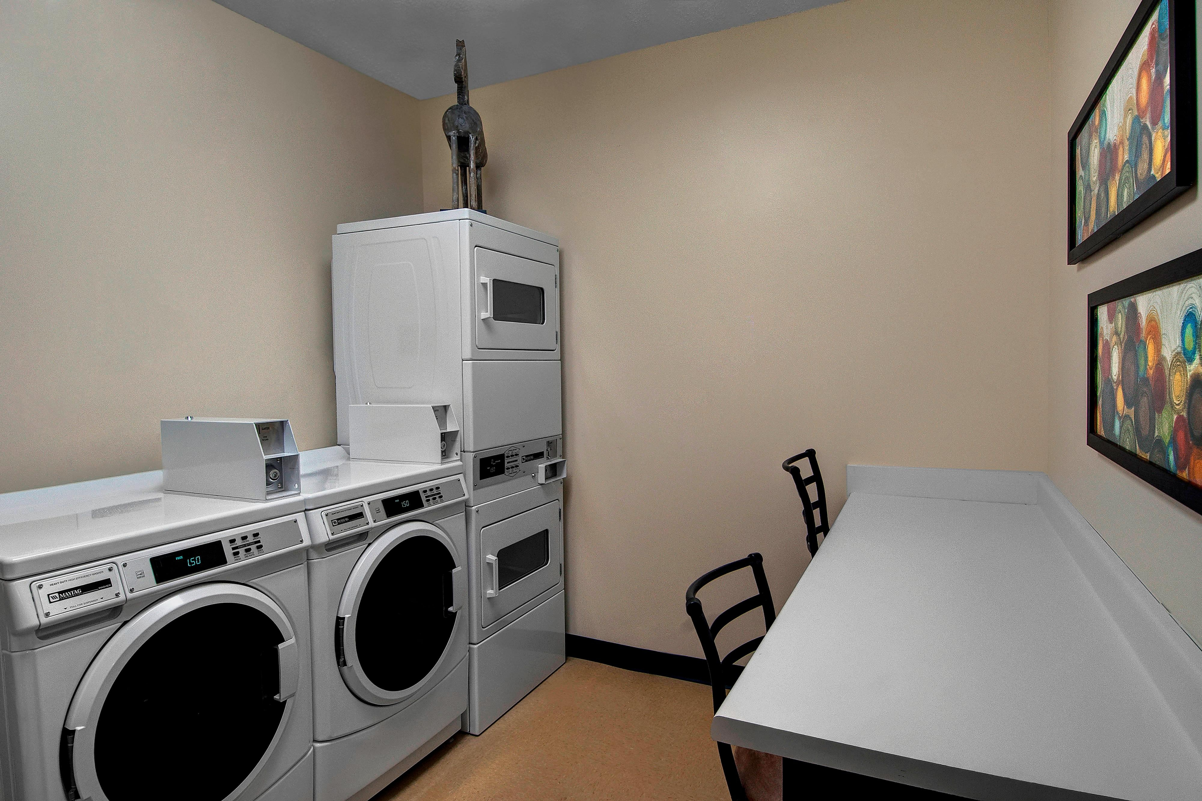 Fort Worth hotel laundry facilities