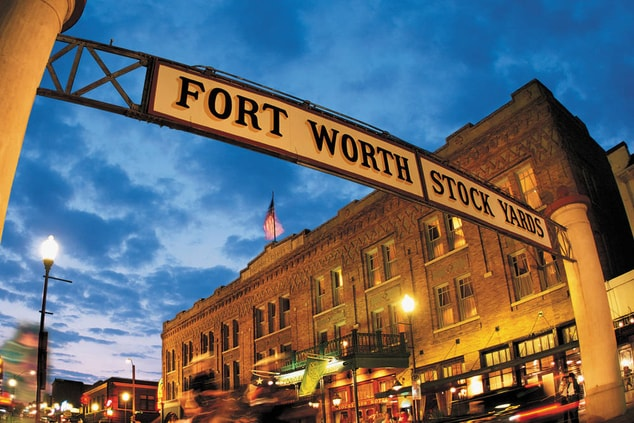 Fort Worth Stockyards near hotel