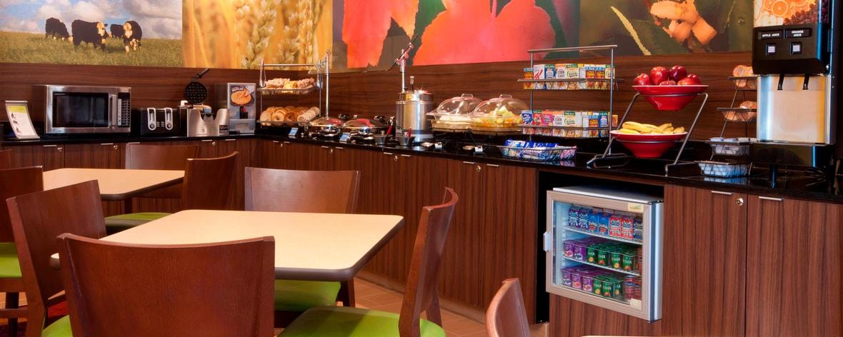 Área de desayuno del hotel