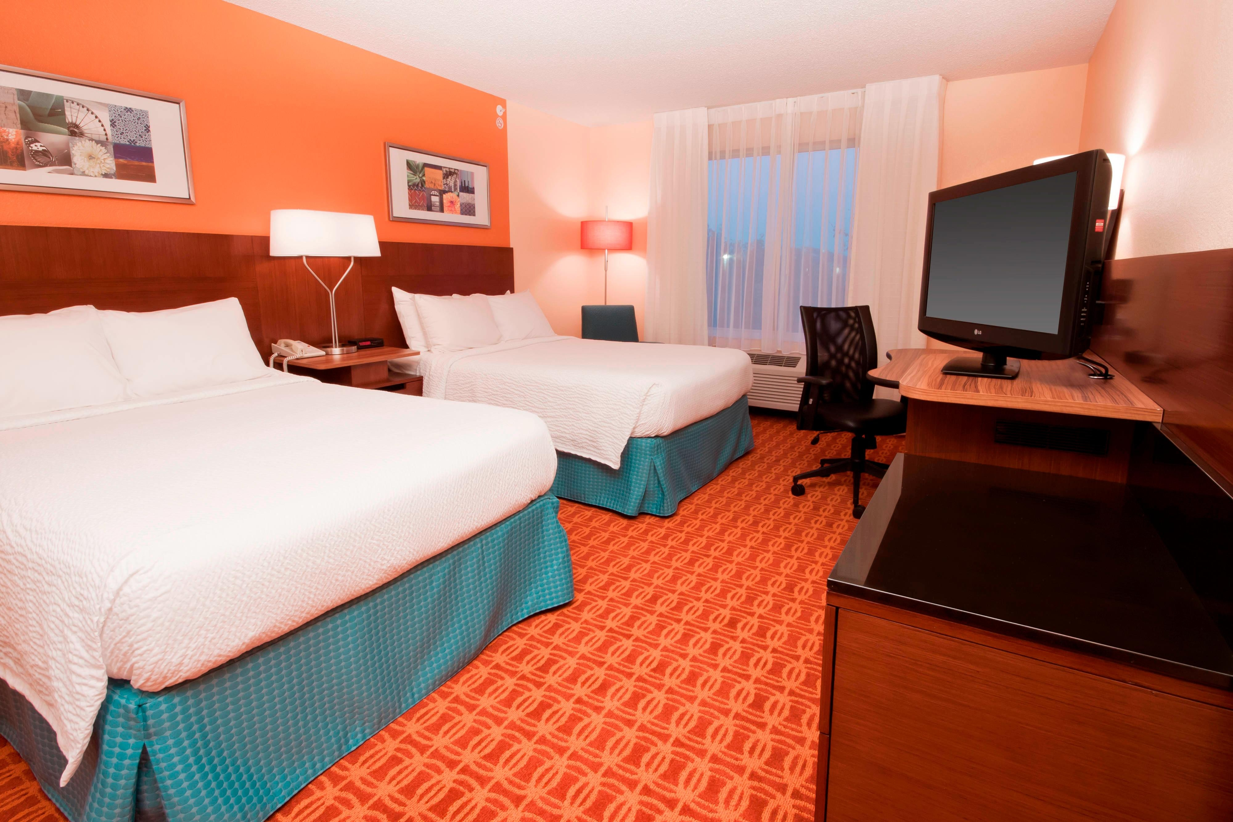 Double Beds Hotel Room