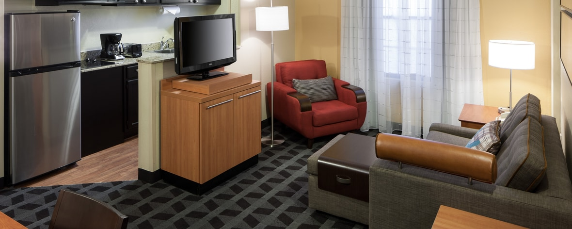 Sala de estar del TownePlace Suites Dallas Arlington North