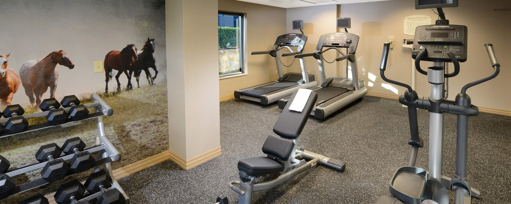 Gimnasio del SpringHill Suites Fort Worth