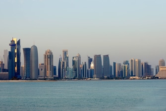 Downtown Doha, Qatar city skyline