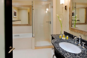 Suite bathroom in Doha hotel