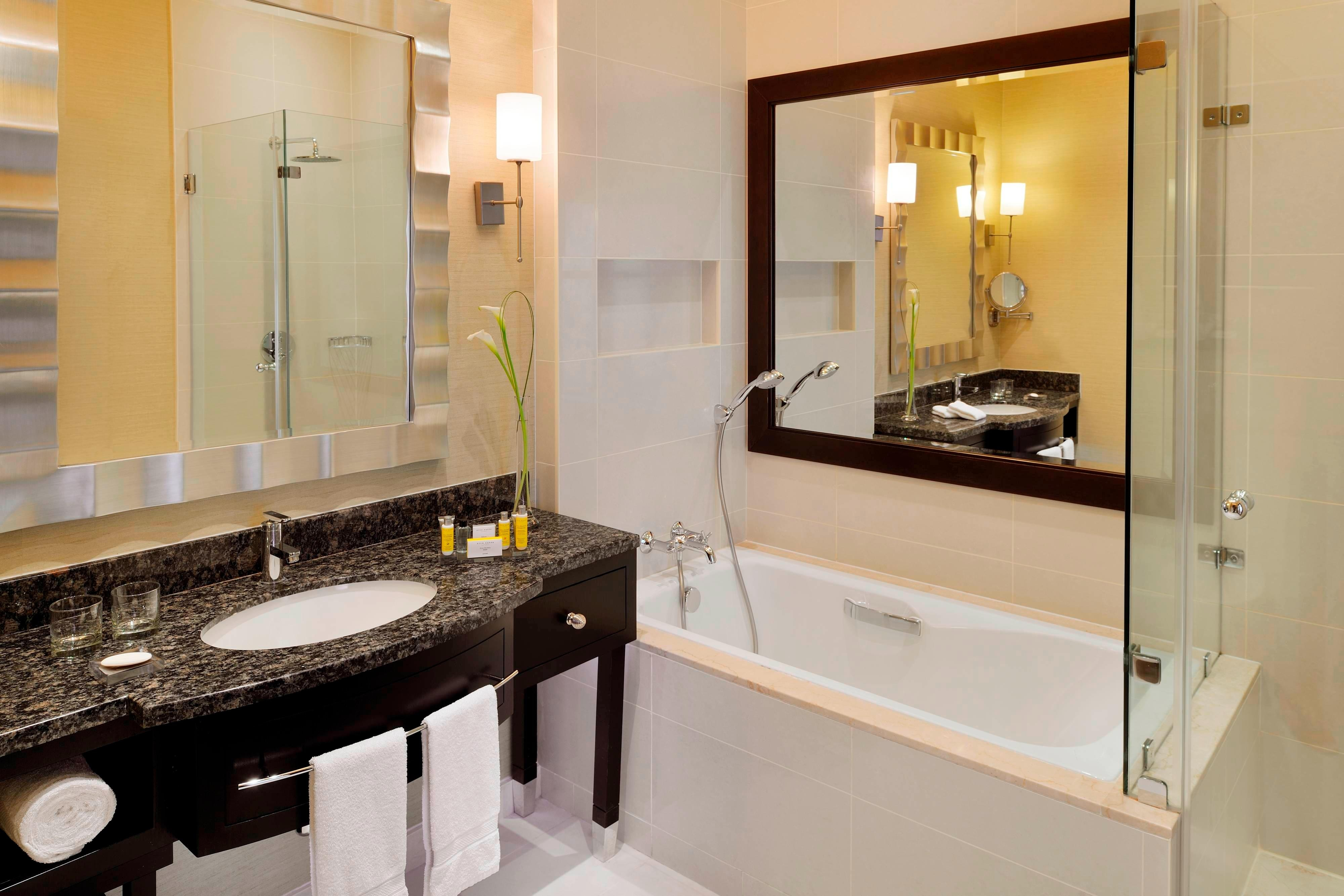 Guest bathroom in Doha hotel