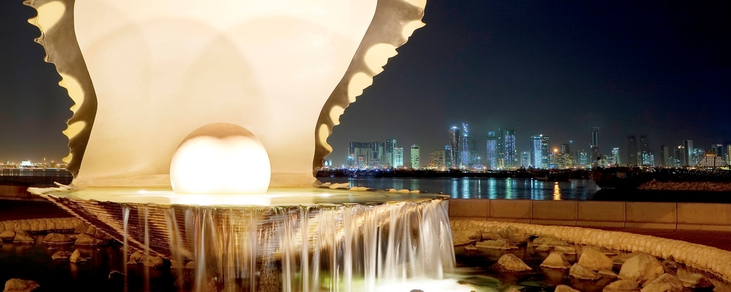Pearl and Oyster Fountain - Doha Corniche