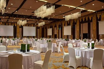 Grand Ballroom, Banquet Setup for The Stones Hotel