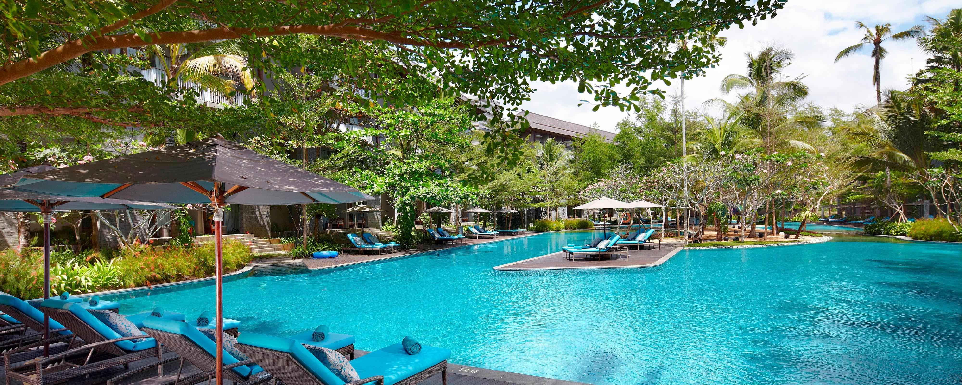 Outdoor pool at Bali hotel