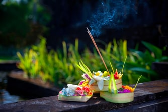 Balinese Flower Offerings
