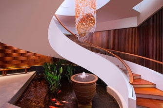 Spa - Grand Staircase and Koi Pond