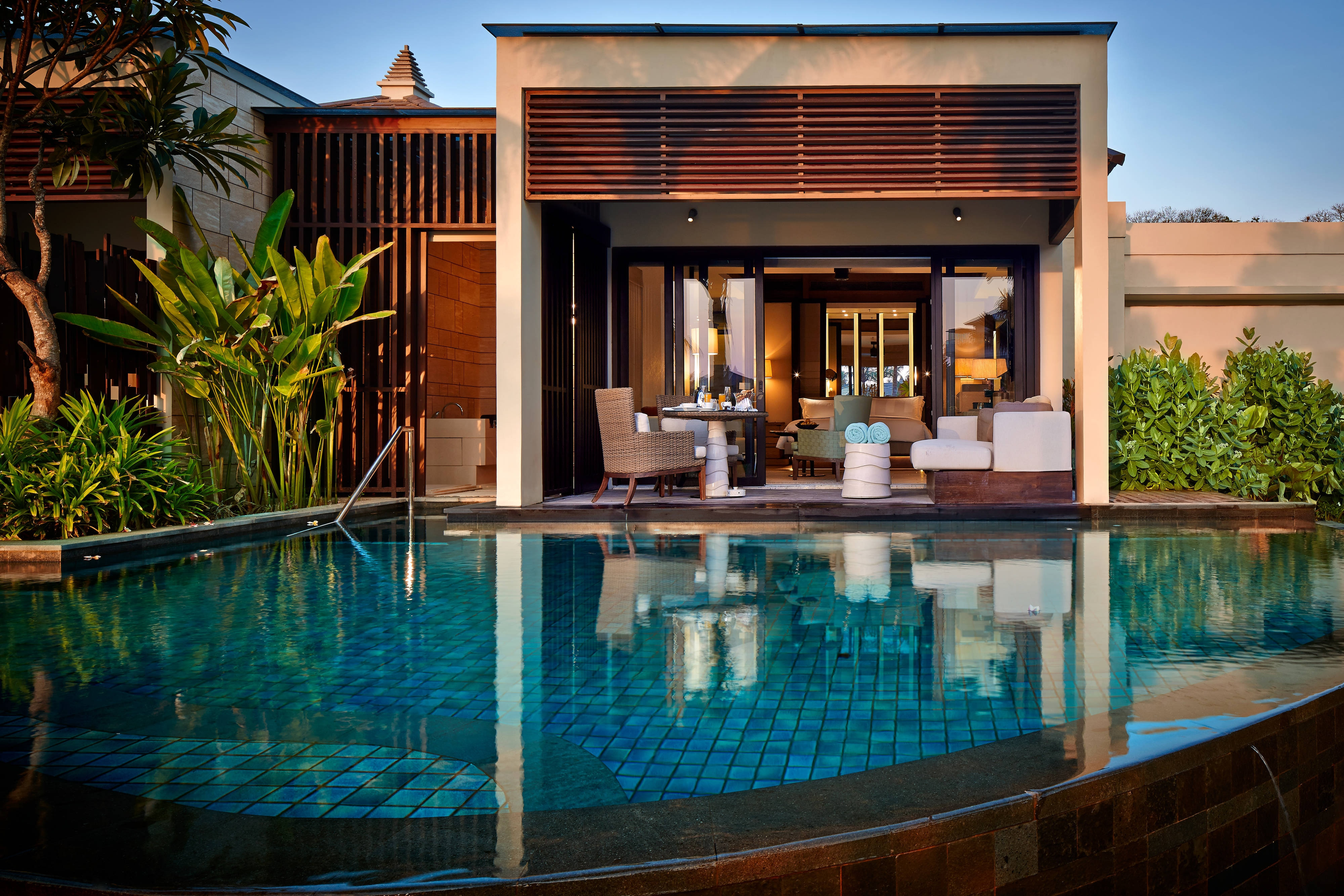 Pool Pavilion with a direct access to the lagoon at The Ritz-Carlton, Bali