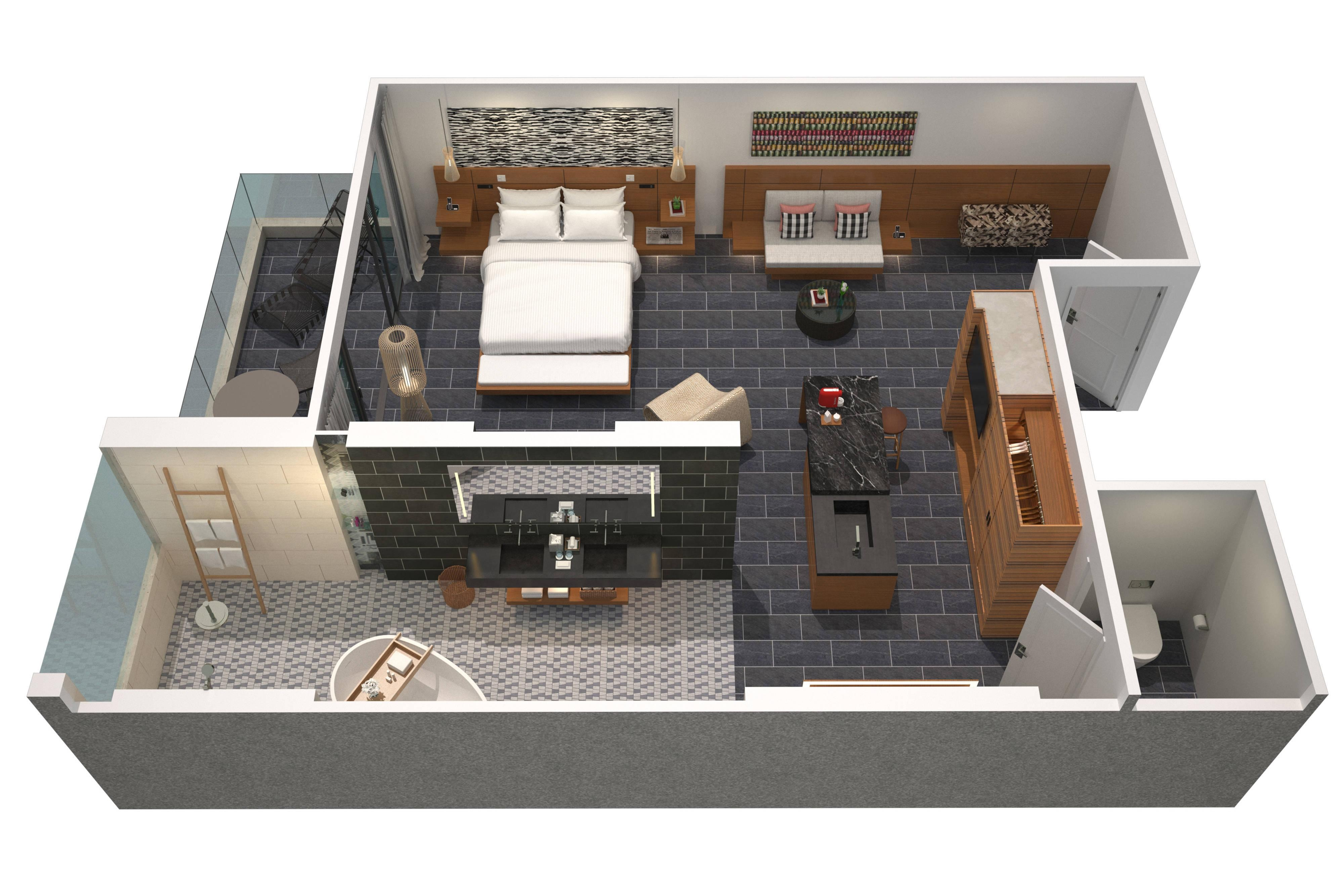Suite Executive, plan de la surface habitable