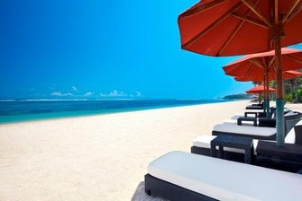 The Pristine White Sand Beach of The St. Regis Bali Resort