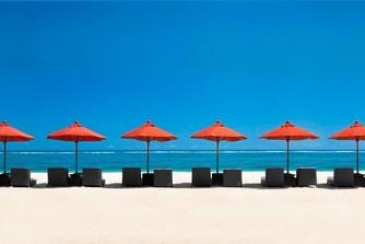 セントレジス・バリリゾートのビーチ