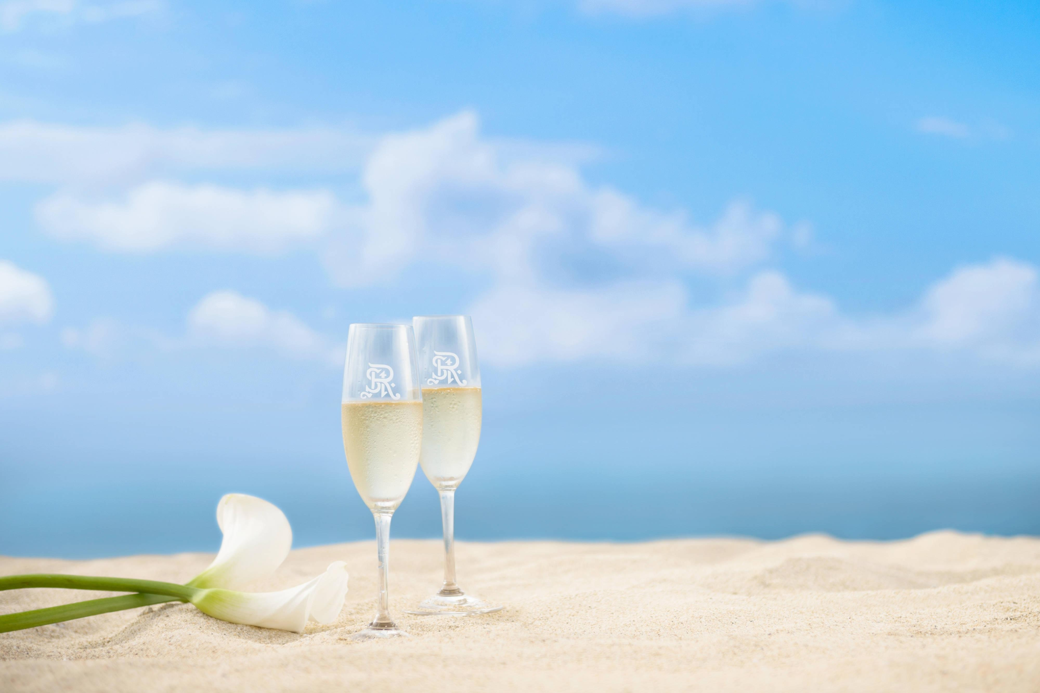 Champagne on the Beach
