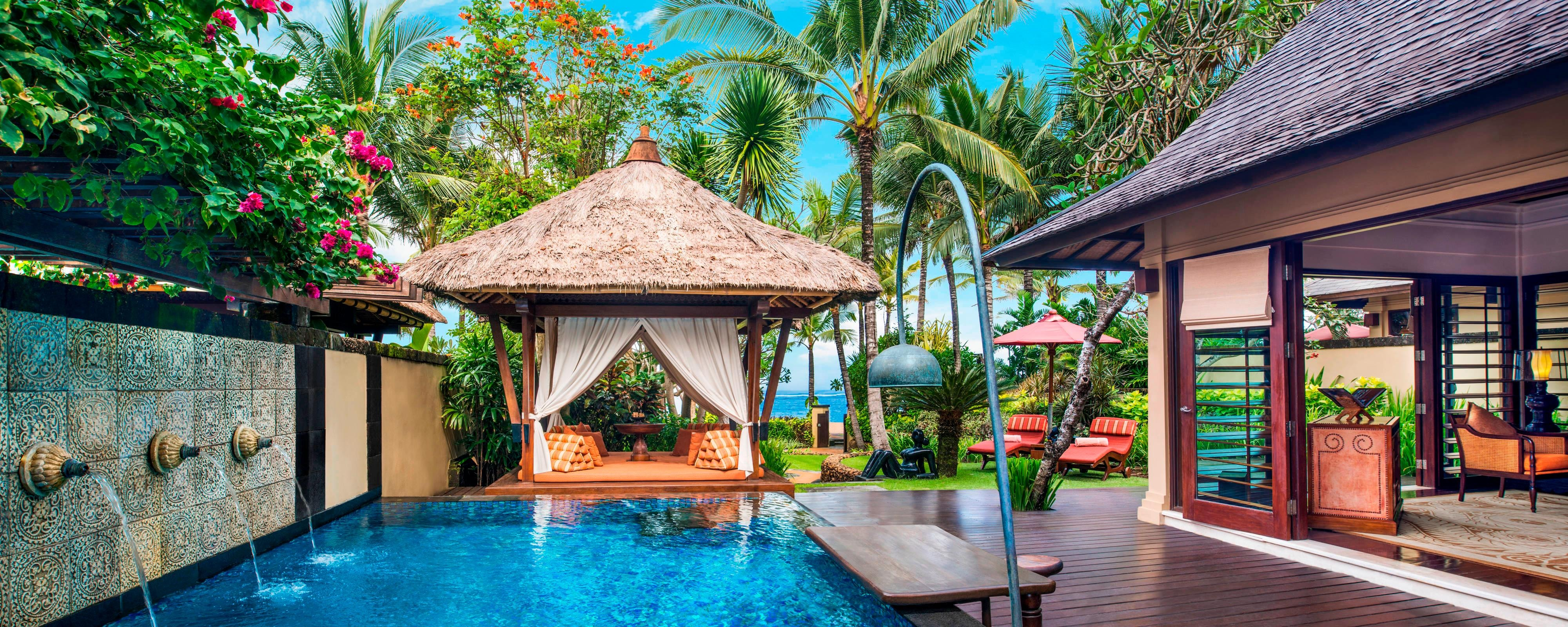 The Private Pool and Gazebo at The Strand Villa