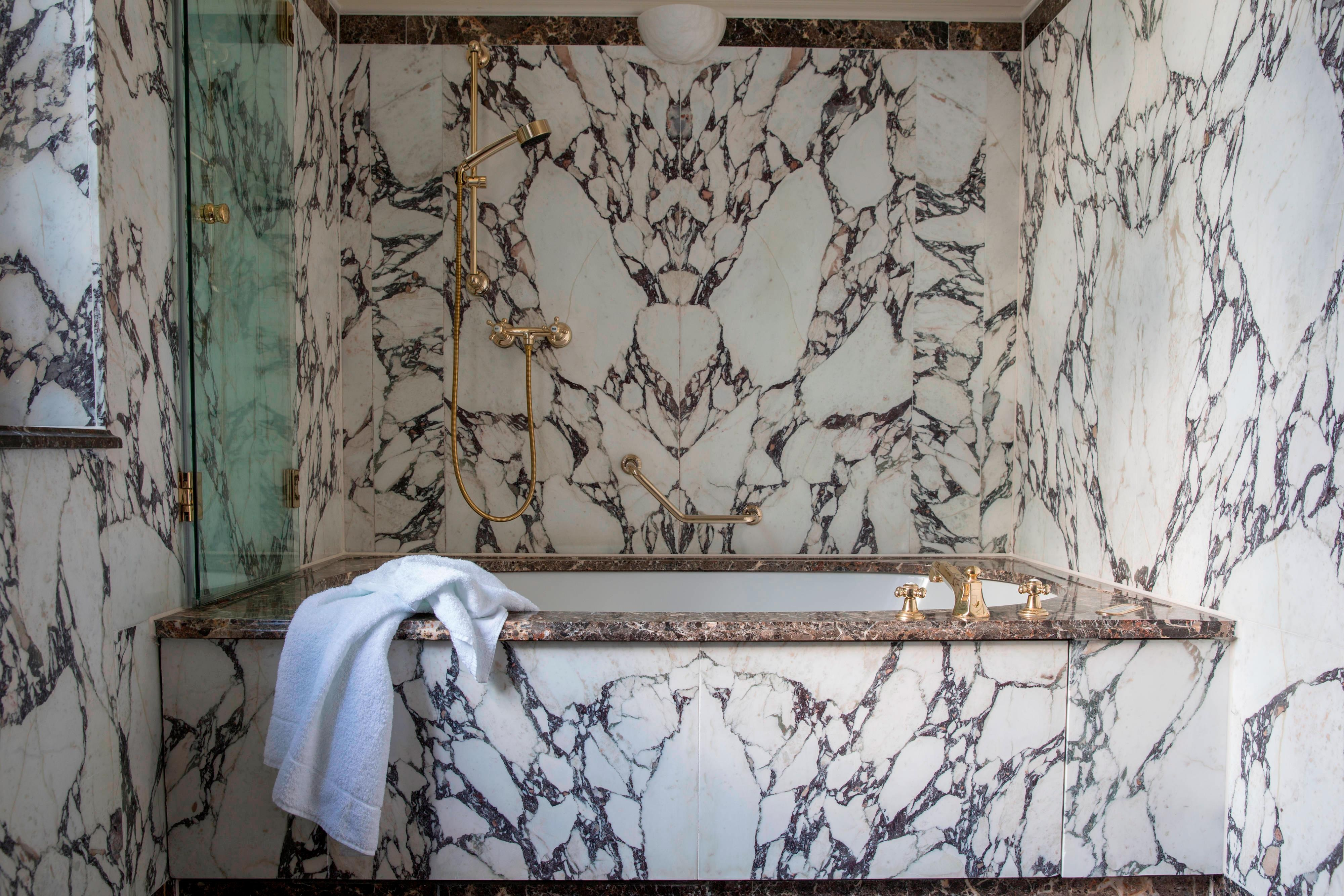 Superior Marble Bathroom with Airpool