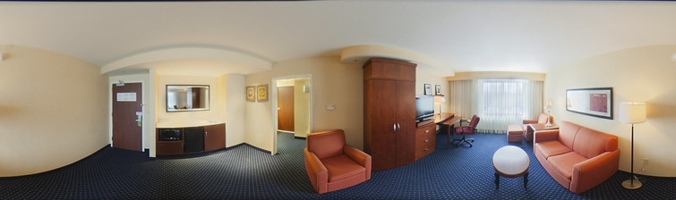 Ankeny hotel suite living area
