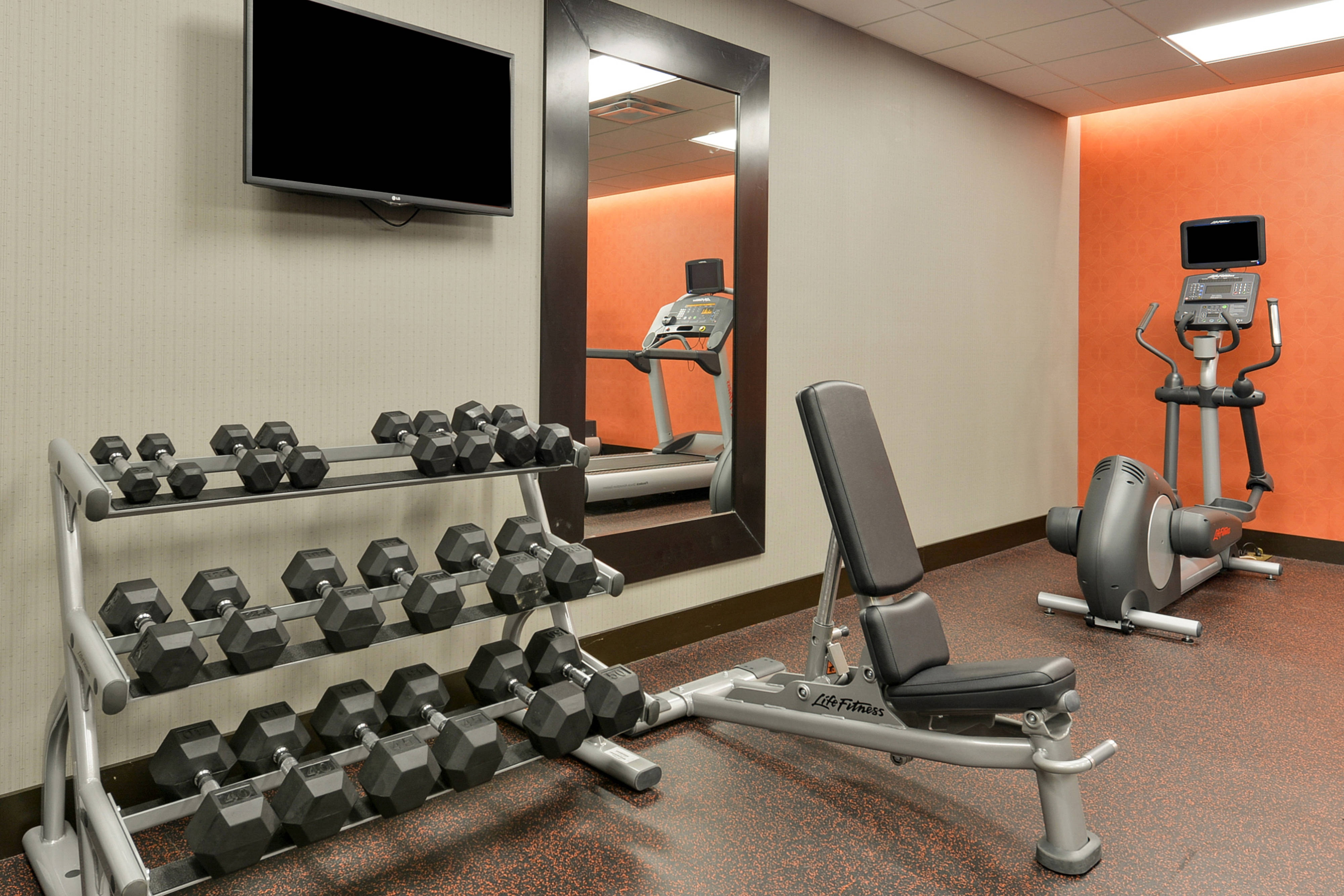 Fitness Center Weights & Elliptical