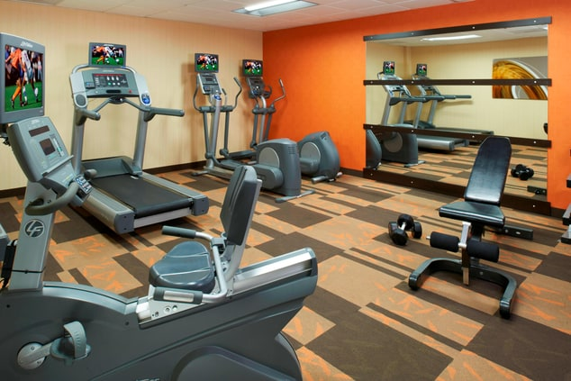 Keep fit or relieve the stresses of the day with our on-site fitness center, featuring cardiovascular and weight training equipment.