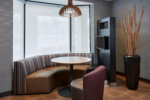 Media Pod Seating with TV and Outlets