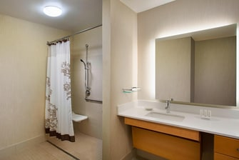 Novi Accessible Suite Bathroom