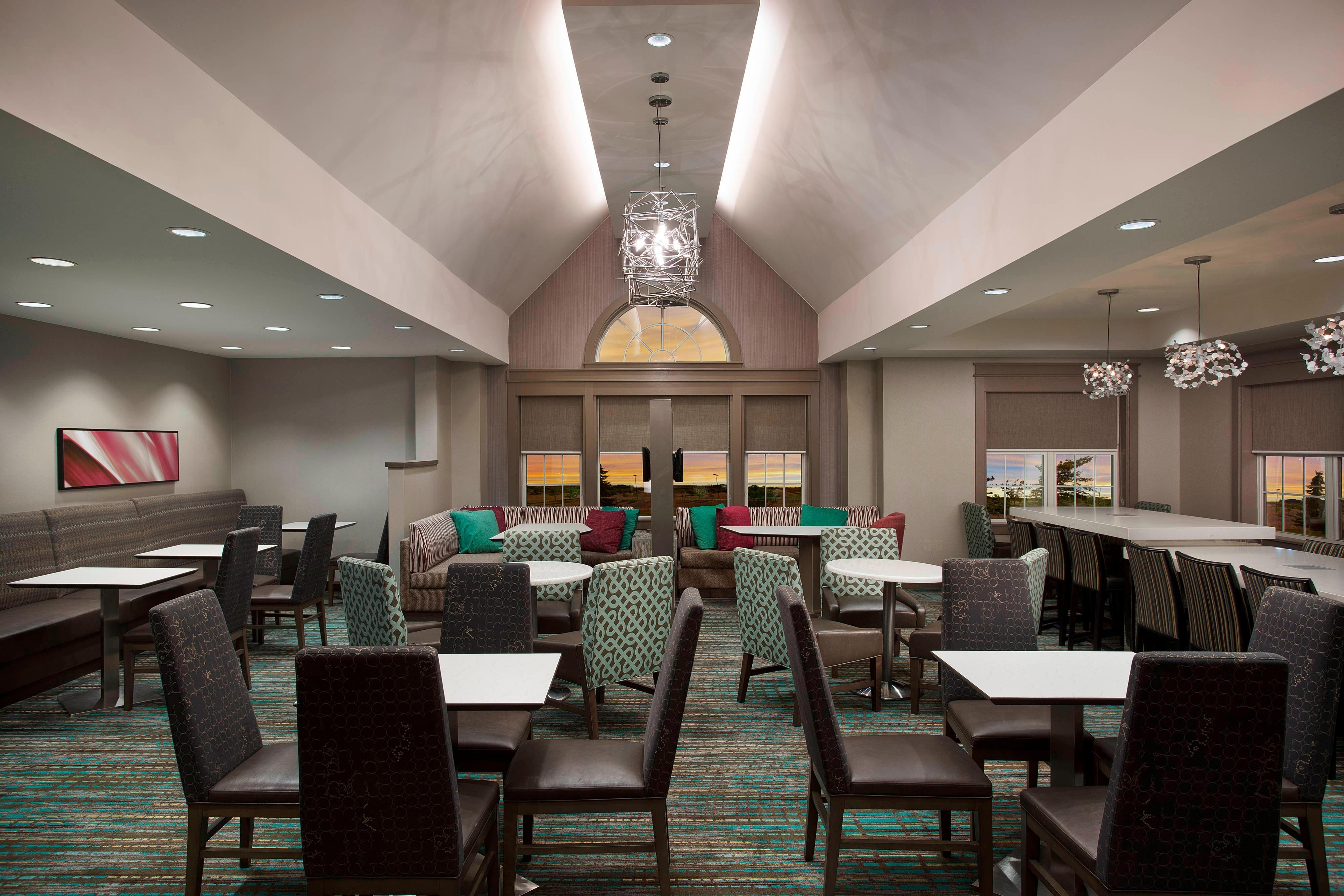 ノバイのホテルの朝食エリア