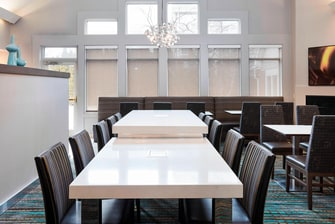 Two Communal Tables and Other Seating