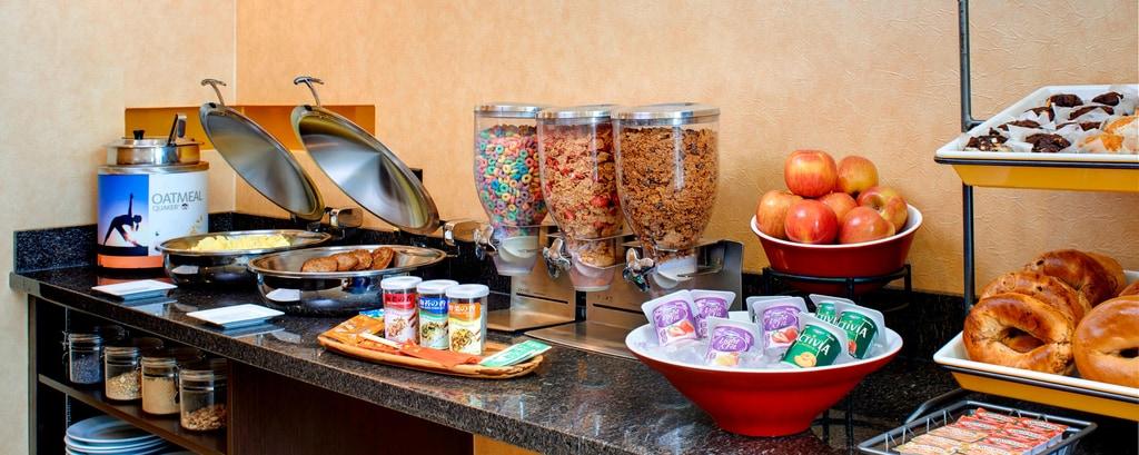 Bereich für Frühstück und abendliche Social Hour