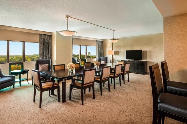 Hospitality Suite 517 featuring a Boardroom Table and wet Bar