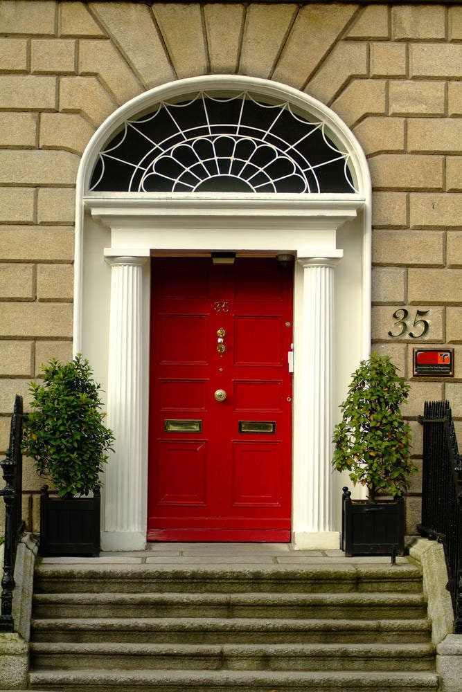 Red Georgian Door