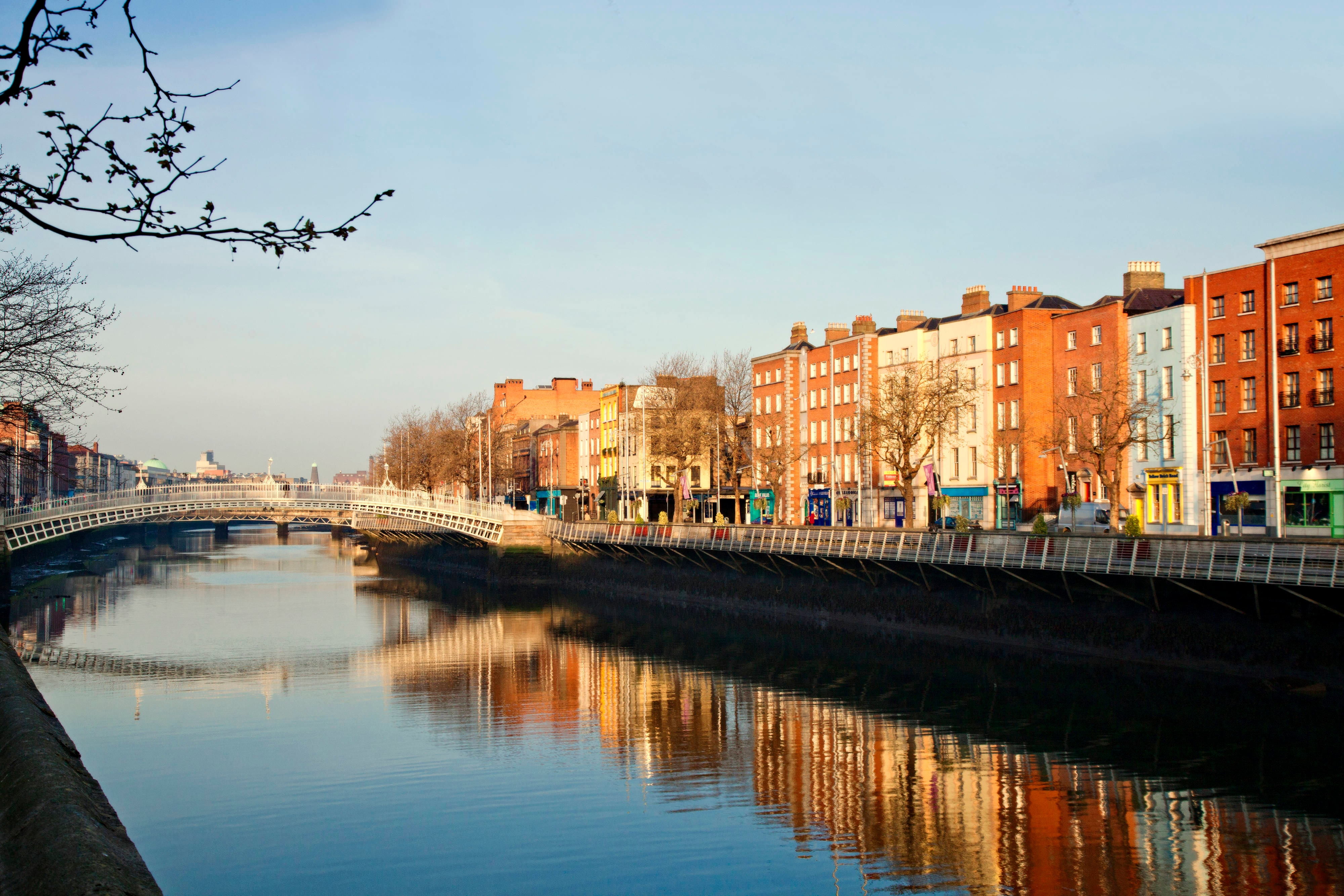 The Liffey and The Ha Penny Bridge