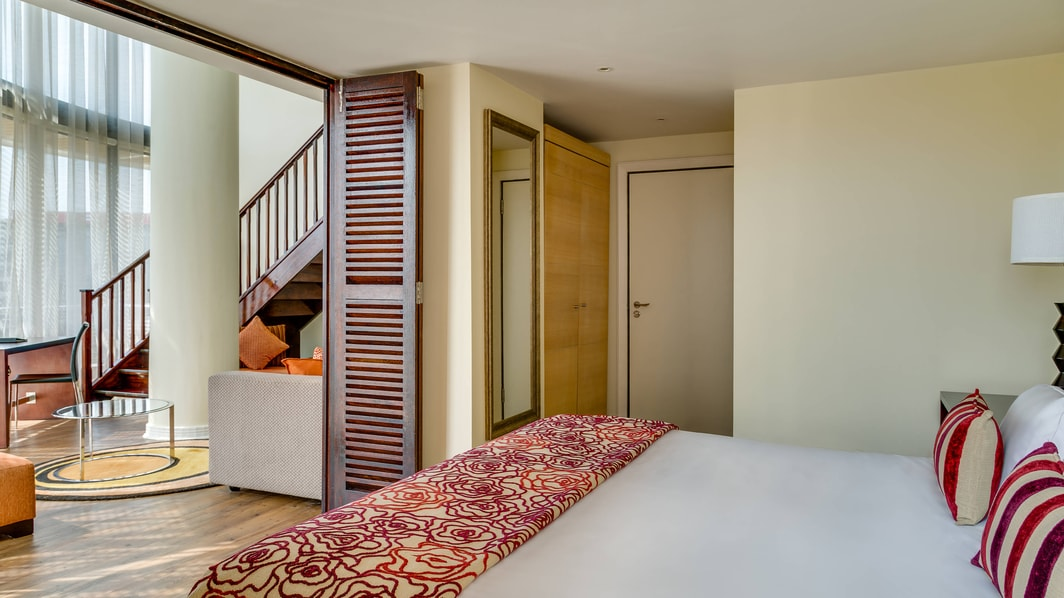 Penthouse accommodation, main bedroom